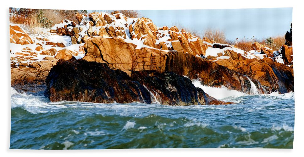 Gloucester Beach Towel featuring the photograph Color Palette by Greg Fortier