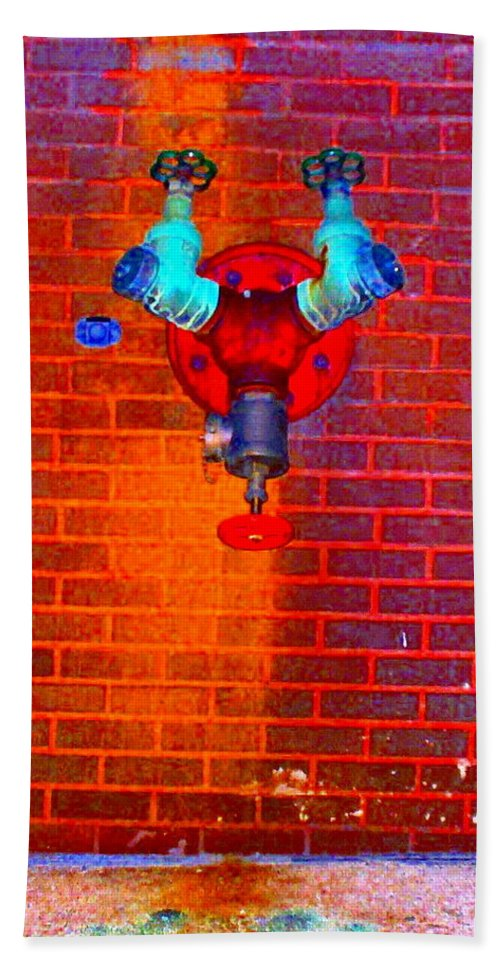 Color Photograph Beach Towel featuring the photograph Color Pipe by Thomas Valentine