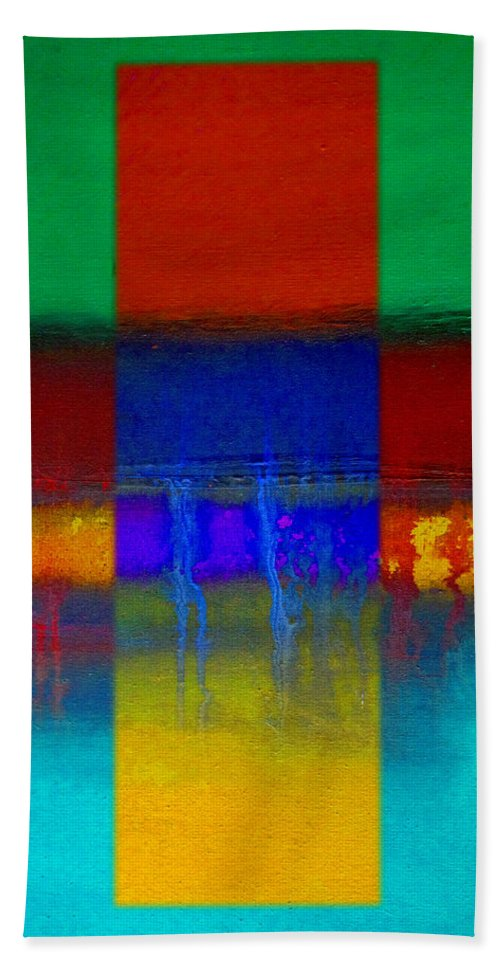 Landscape Beach Towel featuring the painting Color State by Charles Stuart