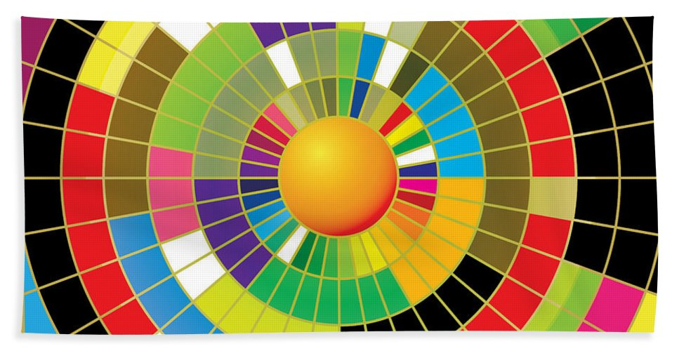 Modern Art Beach Towel featuring the painting Color Wheel by Gary Grayson