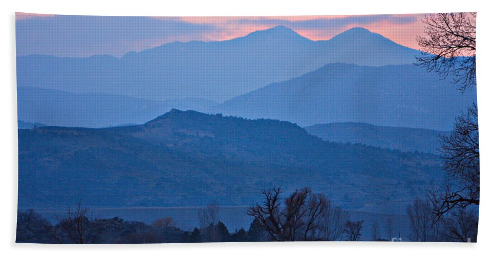 Boulder Beach Towel featuring the photograph Colorado Country - Boulder County by James BO Insogna