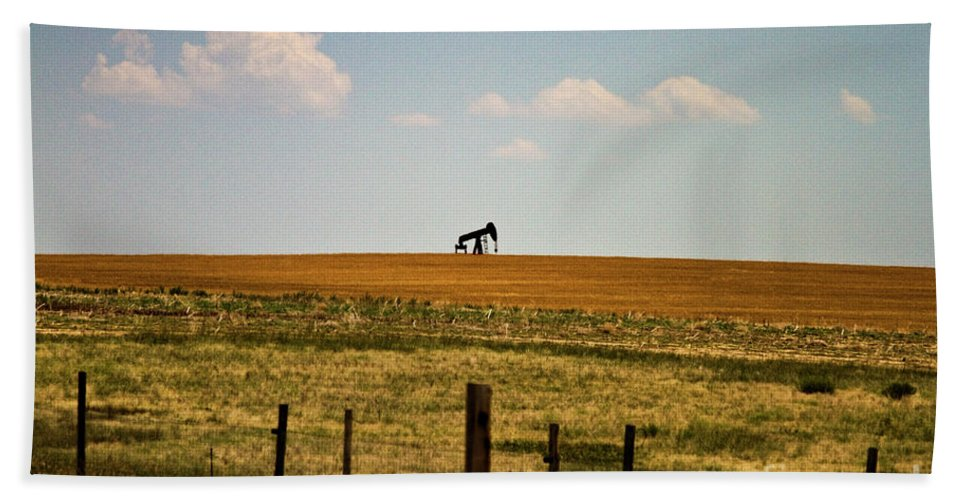 Oil Beach Towel featuring the photograph Colorado Crude by Scott Pellegrin