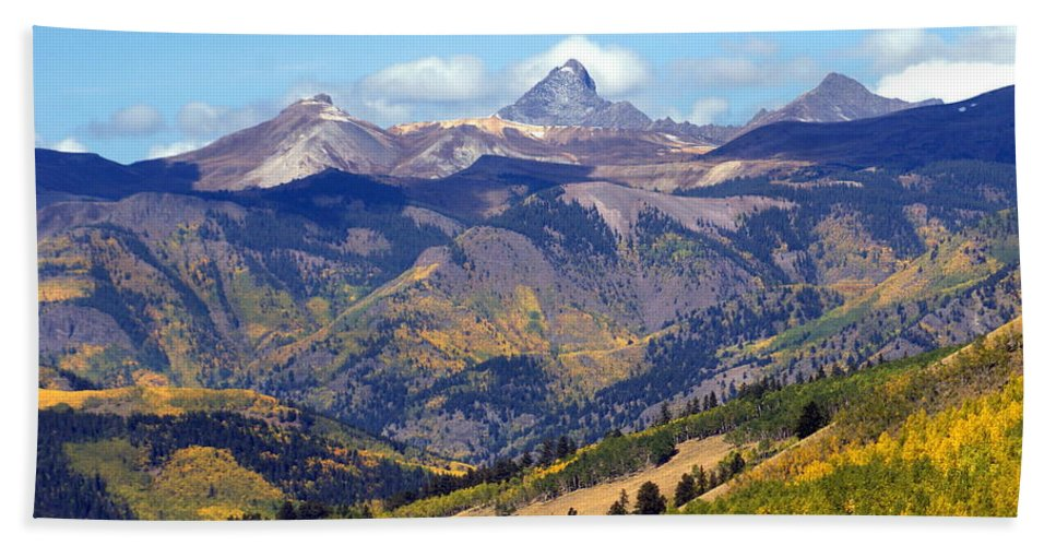 Mountains Beach Towel featuring the photograph Colorado Mountains 1 by Marty Koch