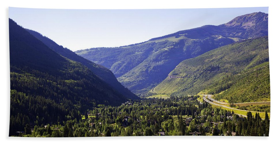 Mountains Beach Towel featuring the photograph Colorado Mountains by Madeline Ellis