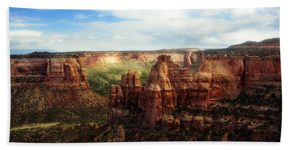 Americana Beach Sheet featuring the photograph Colorado National Monument by Marilyn Hunt