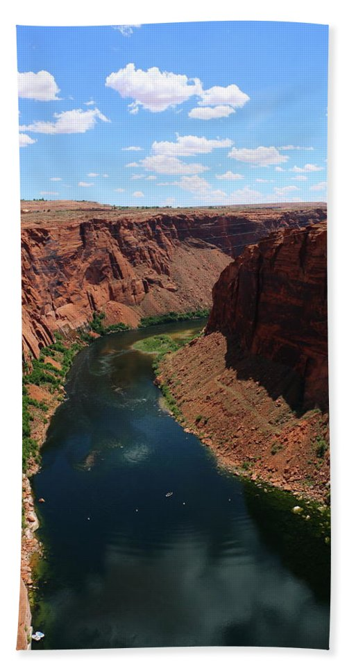 River Beach Towel featuring the photograph Colorado River At Glen Canyon Dam by Christiane Schulze Art And Photography