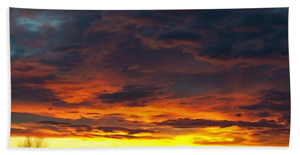 Colorado Beach Towel featuring the photograph Colorado Sunrise February by Ernie Echols
