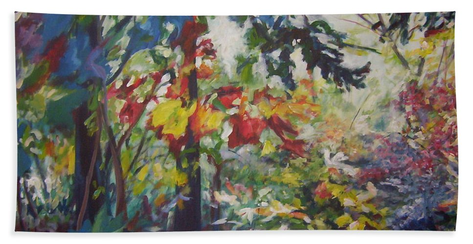 Landscape Beach Towel featuring the painting Colorblind by Sheila Holland
