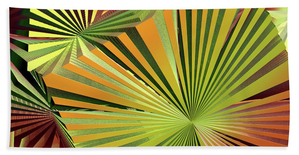 Colored Boxes Beach Towel featuring the digital art Colored Box Abstract by Deborah Benoit