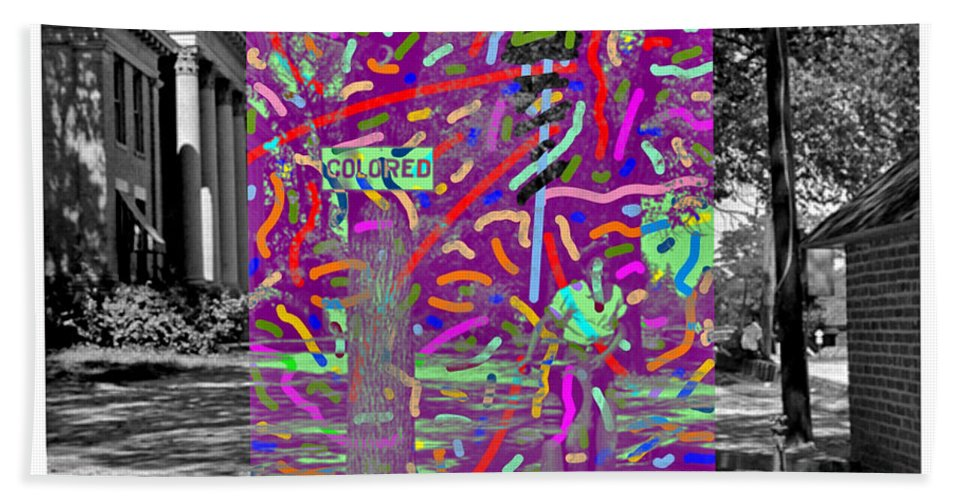 Colored Beach Towel featuring the digital art Colored by Joe Roache