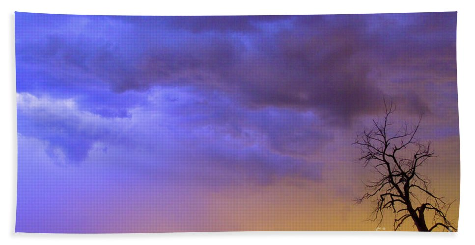 Weld County Beach Towel featuring the photograph Colorful C2c Lightning Country Landscape by James BO Insogna