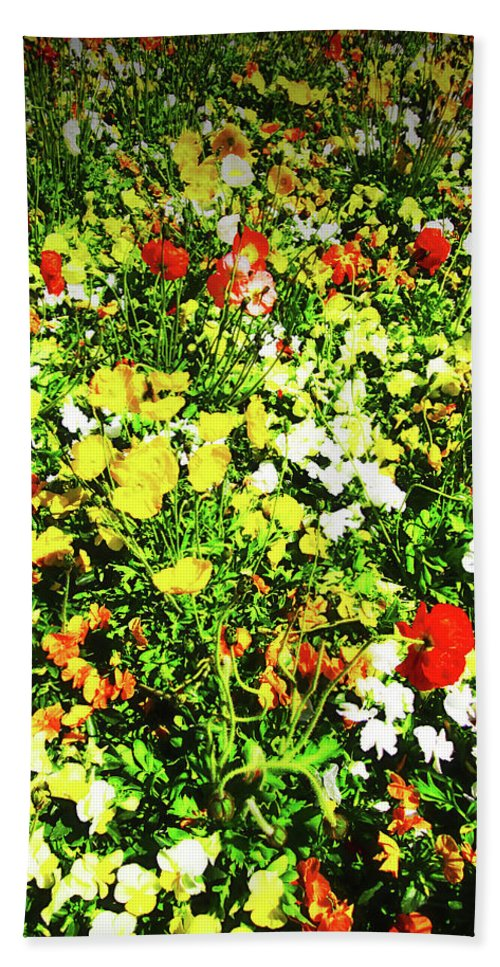 Flowers Beach Towel featuring the photograph Colorful by Douglas Barnard