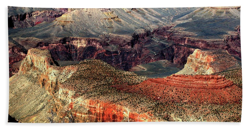 Grand Canyon Beach Towel featuring the photograph Colorful Grand Canyon by Paul Cannon