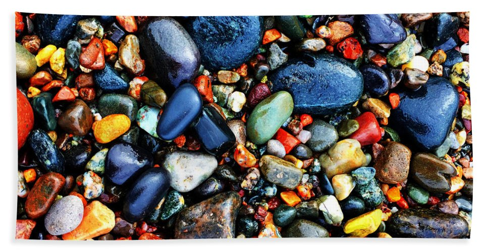Stones Beach Towel featuring the photograph Colorful Stones I by Cristina Stefan
