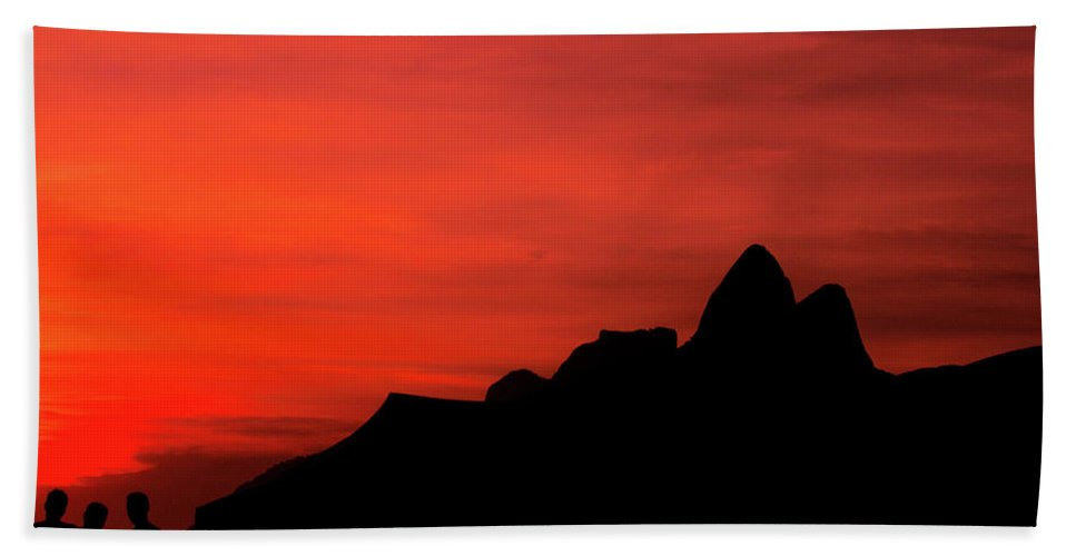 Ipanema Beach Towel featuring the photograph Colorful Sunset by Cesar Vieira