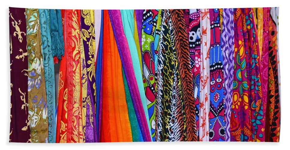 Colorful Tapestries Beach Towel featuring the photograph Colorful Tapestries by Richard Cheski