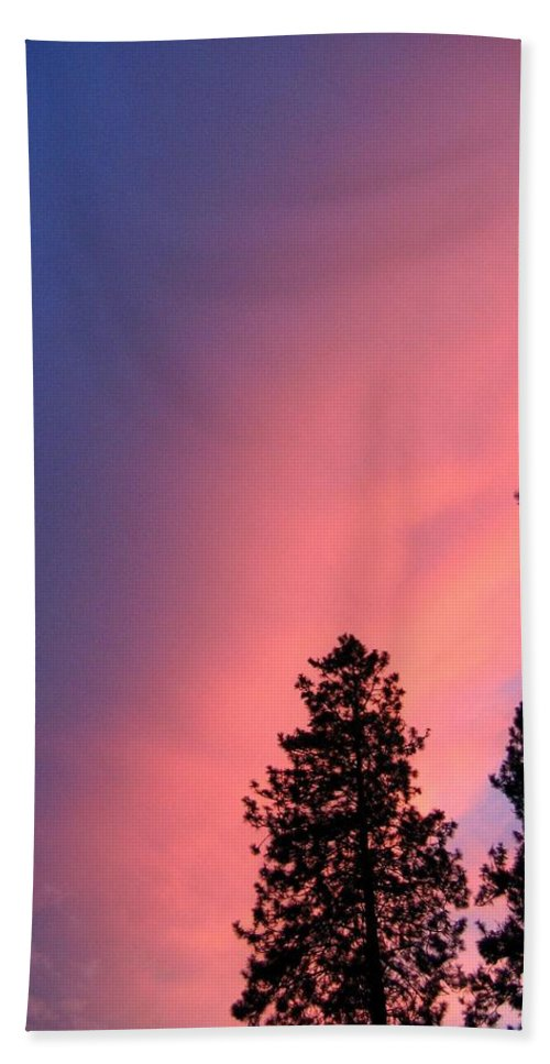 Sunset Beach Towel featuring the photograph Colorful Twilight Time by Will Borden