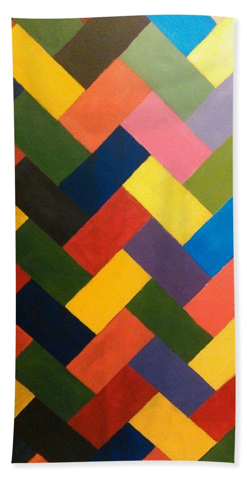 Abstract Beach Towel featuring the painting ColorPS by Andrew Johnson