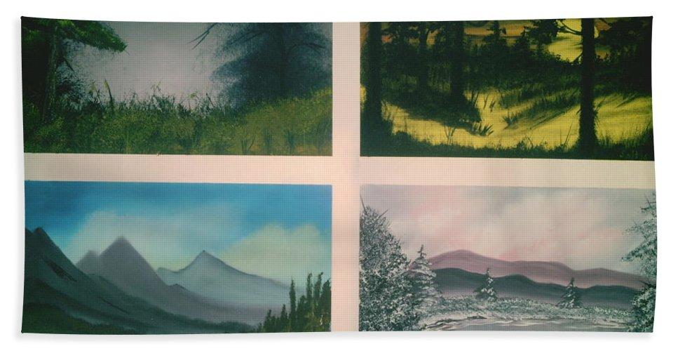 Landscape's Beach Towel featuring the painting Colors Of Landscape 2 by Jim Saltis