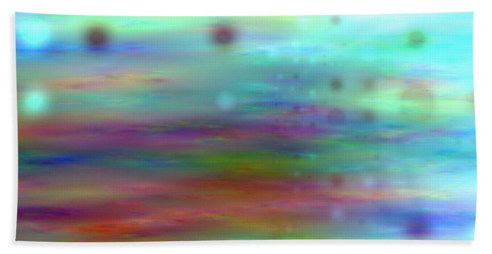 Art Digital Art Beach Towel featuring the digital art Colour25mlv - Impressions by Alex Porter