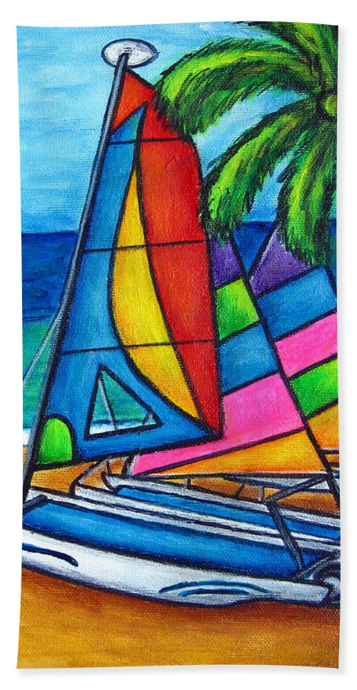 Water Beach Towel featuring the painting Colourful Hobby by Lisa Lorenz