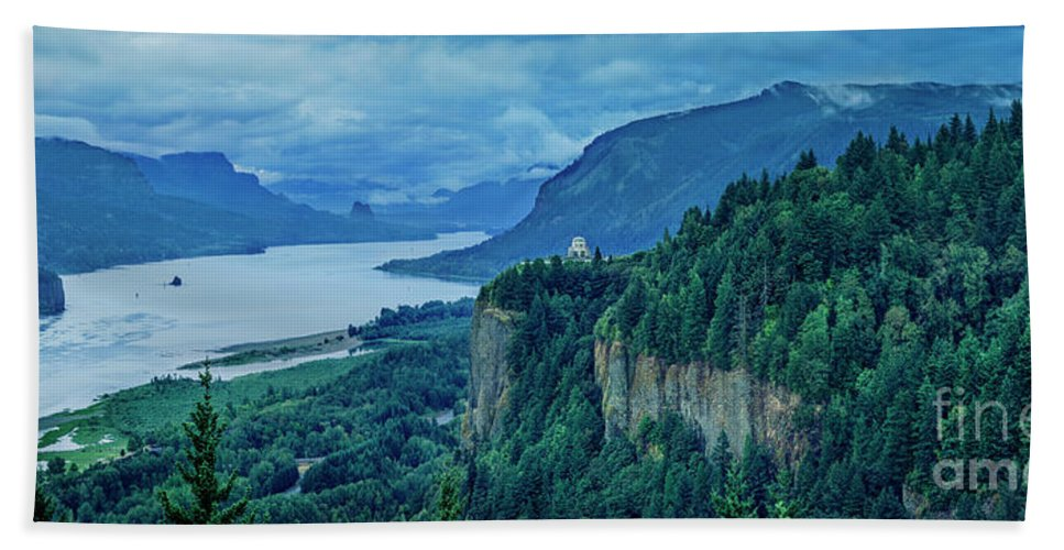 America Beach Towel featuring the photograph Columbia River Gorge Panoramic by Brian Jannsen