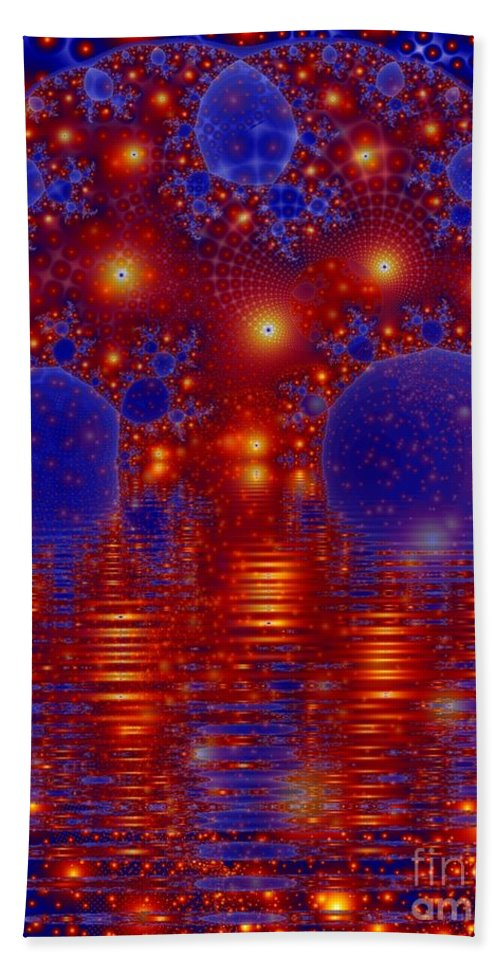 Fractal Art Beach Sheet featuring the digital art Combinations In Primordal Soup by Ron Bissett