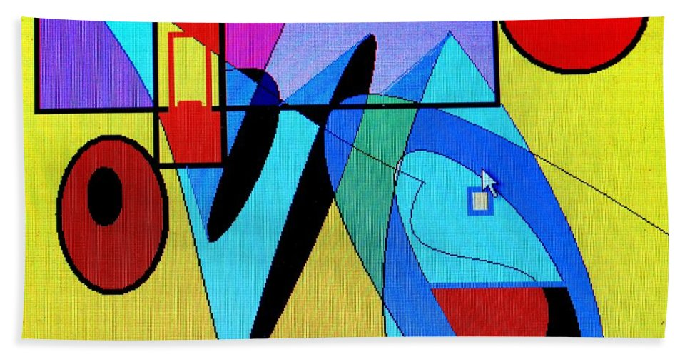 Horn Beach Towel featuring the digital art Come Blow Your Horn by Ian MacDonald
