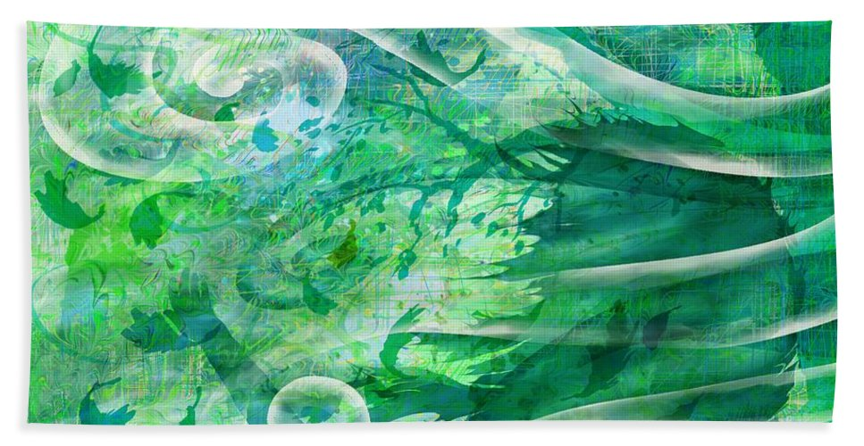 Abstract Beach Towel featuring the digital art Come To Me by Rachel Christine Nowicki