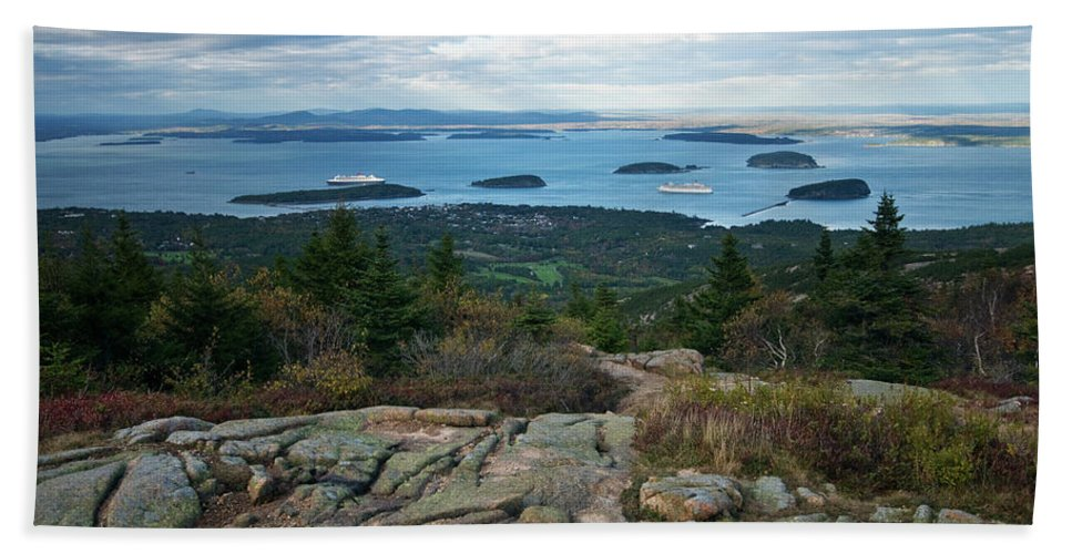 acadia National Park Beach Towel featuring the photograph Coming And Going by Paul Mangold