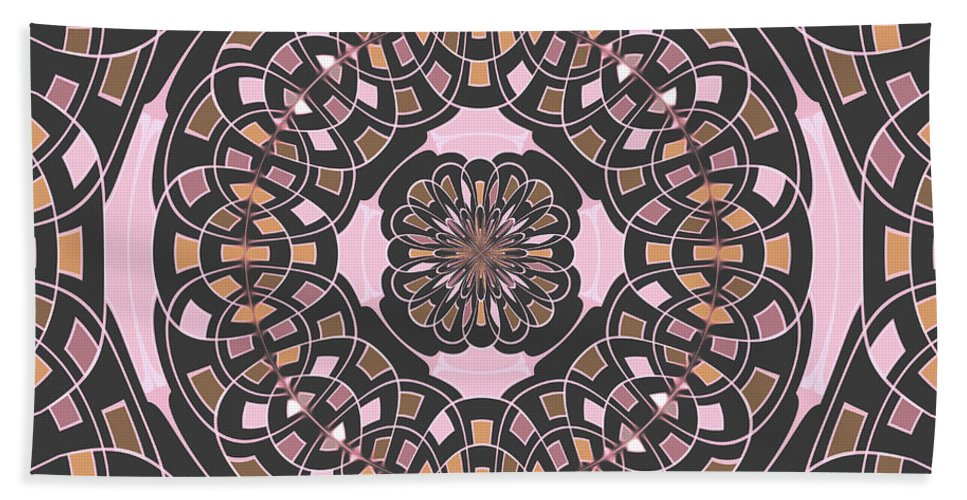 Mandala Beach Towel featuring the digital art Complex Geometric Abstract by Gaspar Avila