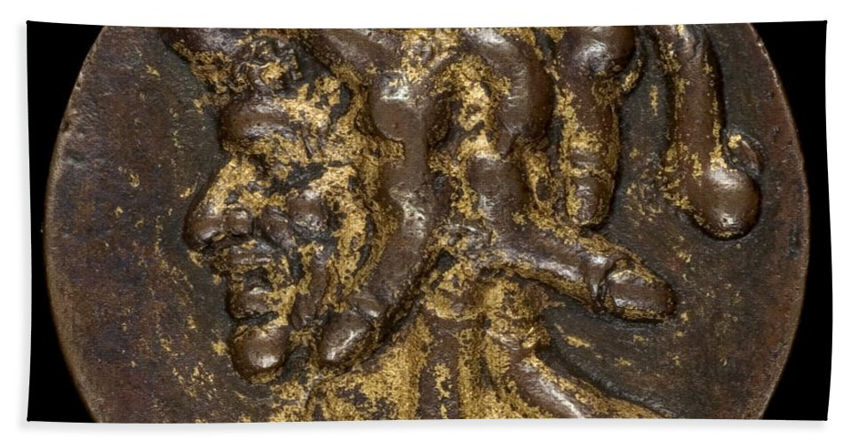 Beach Towel featuring the photograph Composite Head Formed Of Phalluses [reverse] by Probably Venetian 16th Century