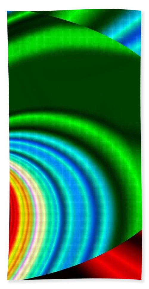 Abstract Beach Towel featuring the digital art Conceptual 17 by Will Borden