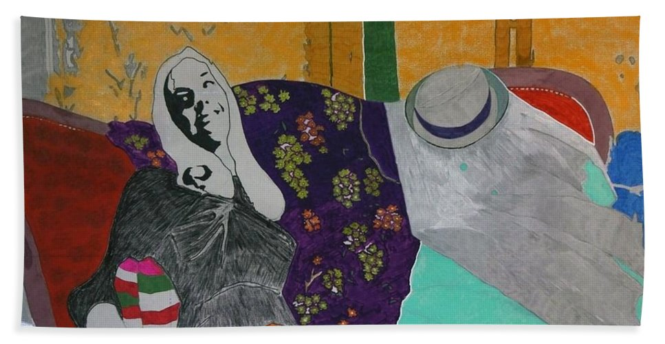 Beautiful Beach Towel featuring the painting Conchita by George Hertz