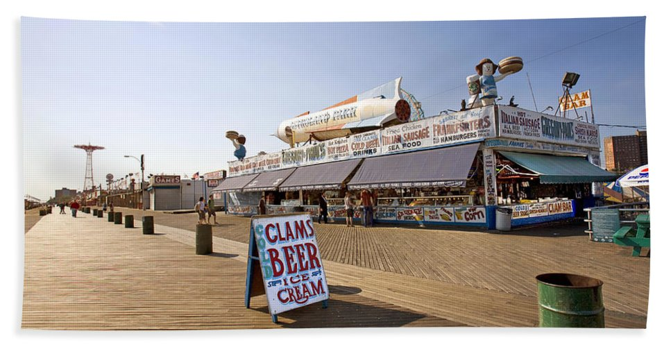 Coney Island Beach Towel featuring the photograph Coney Island Memories 7 by Madeline Ellis
