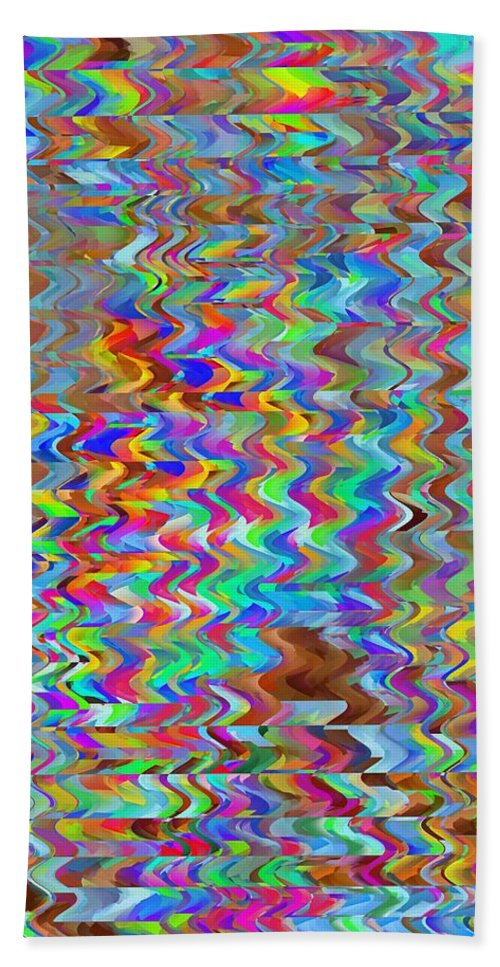 Abstract Beach Towel featuring the digital art Confetti On The Fly by Tim Allen