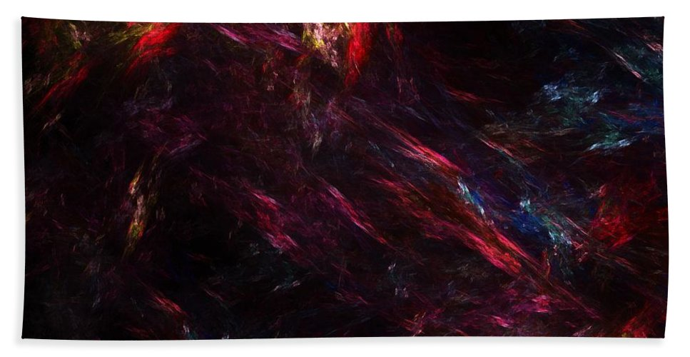 Abstract Digital Painting Beach Towel featuring the digital art Conflict by David Lane