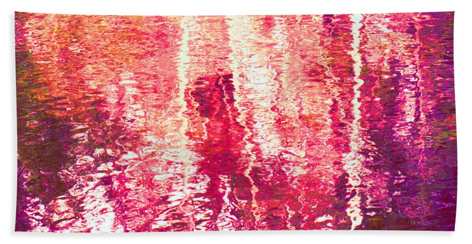 Abstract Beach Towel featuring the photograph Conflicted In The Moment by Sybil Staples