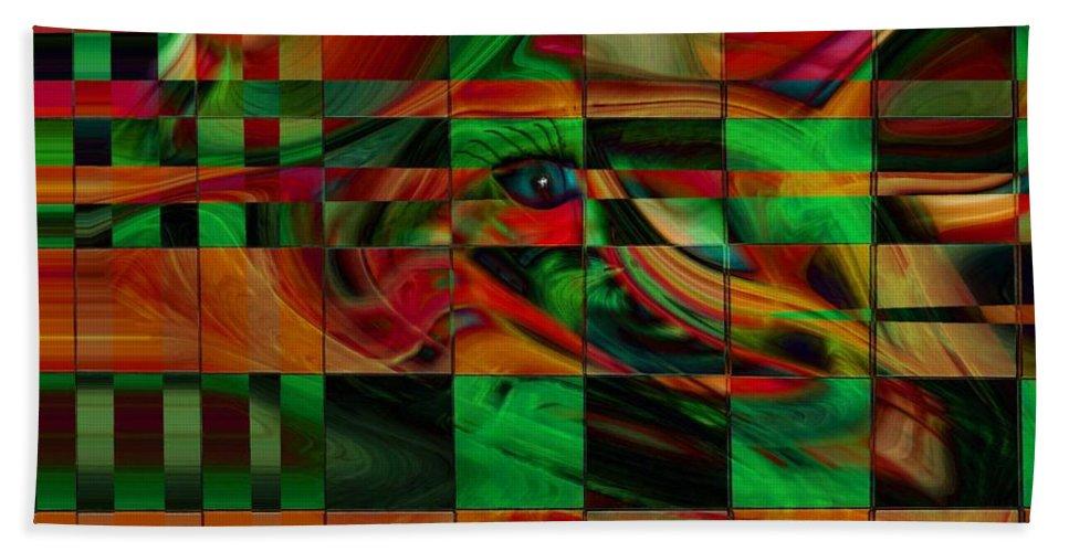 Abstract Art Beach Towel featuring the digital art Confusion by Linda Sannuti