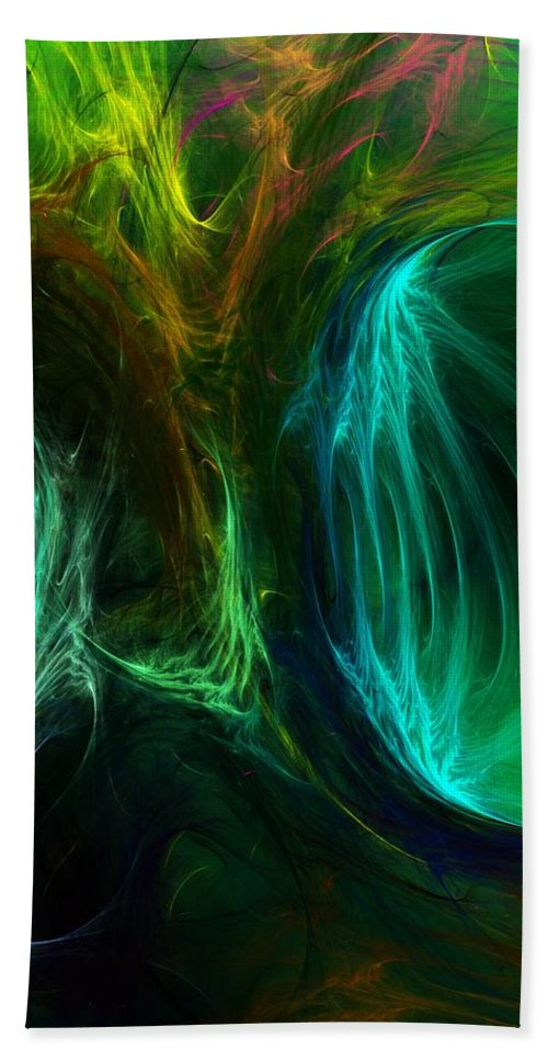 Digital Painting Beach Towel featuring the digital art Congress by David Lane