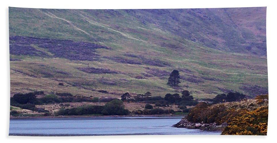 Landscape Beach Towel featuring the photograph Connemara Leenane Ireland by Teresa Mucha