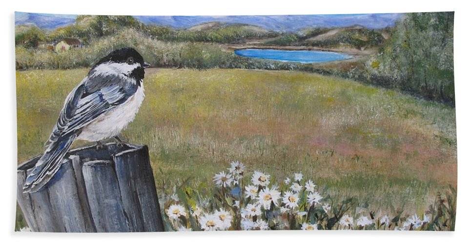 Rural Beach Sheet featuring the painting Contemplating The Journey by Lisa Cini