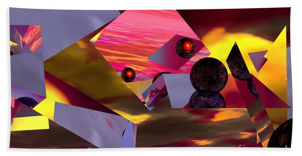 Beach Towel featuring the digital art Contemplating The Multiverse. by David Lane