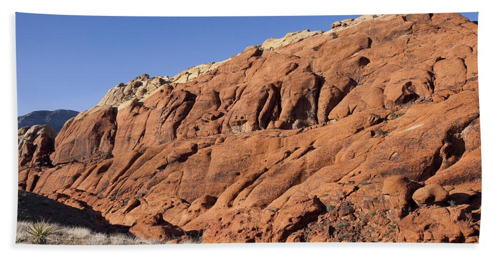 Rocks Beach Towel featuring the photograph Contrast by Kelley King