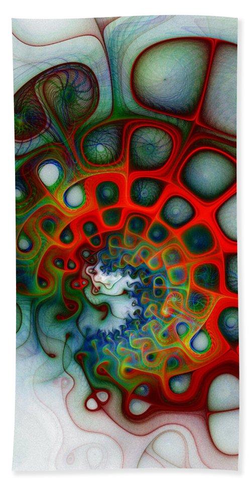 Digital Art Beach Towel featuring the digital art Convolutions by Amanda Moore