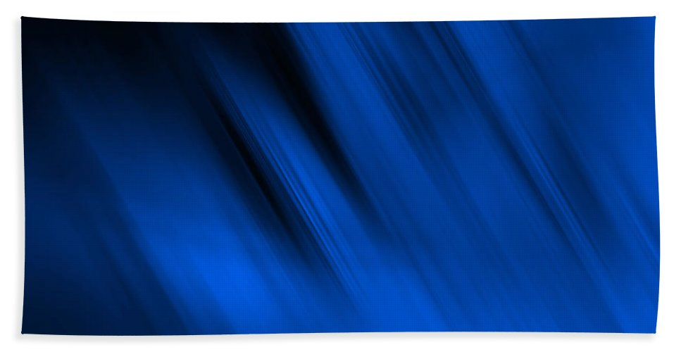 Contemporary Beach Towel featuring the digital art Cool Blue Flame by Tim Sladek