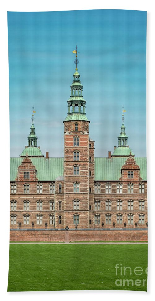 Denmark Beach Towel featuring the photograph Copenhagen Rosenborg Castle Facade by Antony McAulay