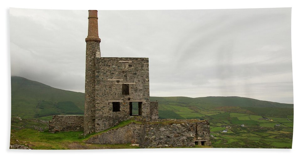 Landscape Copper Mine Beach Towel featuring the photograph Copper Mine by Keith Thain