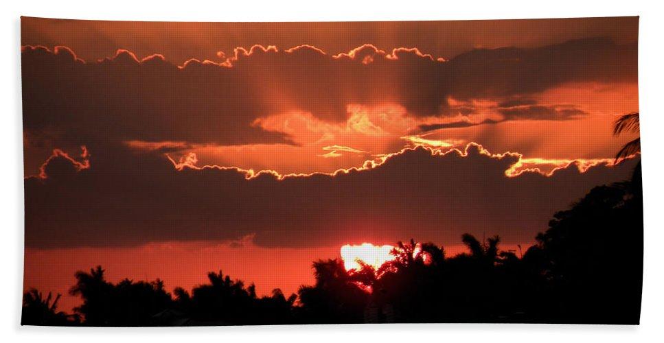 Sunset Beach Towel featuring the photograph Copper Sunset by Rosalie Scanlon