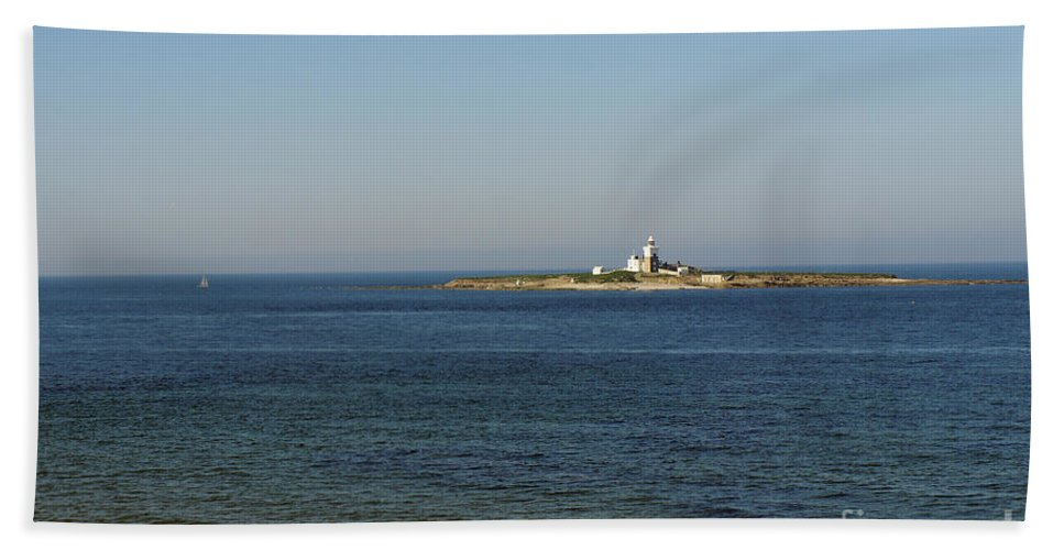 Lighthouse Beach Towel featuring the photograph Coquet Island And Lighthouse by Elena Perelman